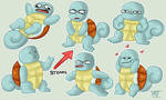 Squirtle Emotion Sheet by Flowfell