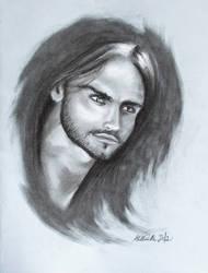 Charcoal Portrait by Helviriitta