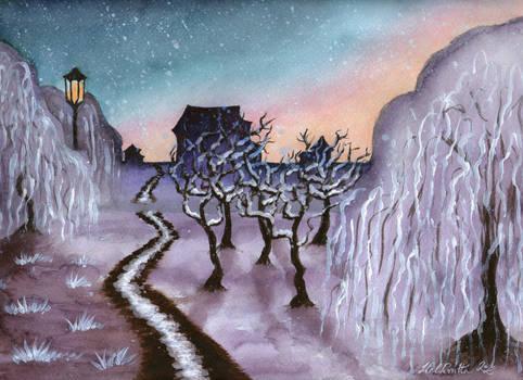 Violet Winter Land