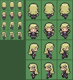 Pokemon XY Ace trainer (Female) Overworld sprite by