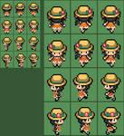 Pokemon USUM female protagonist overworld sprite