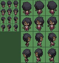 Pokemon SM Olivia Overworld Sprite (Commission)