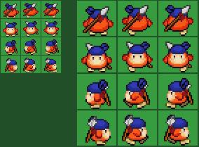 Kirby RTDL Bandanna Dee Overworld sprite