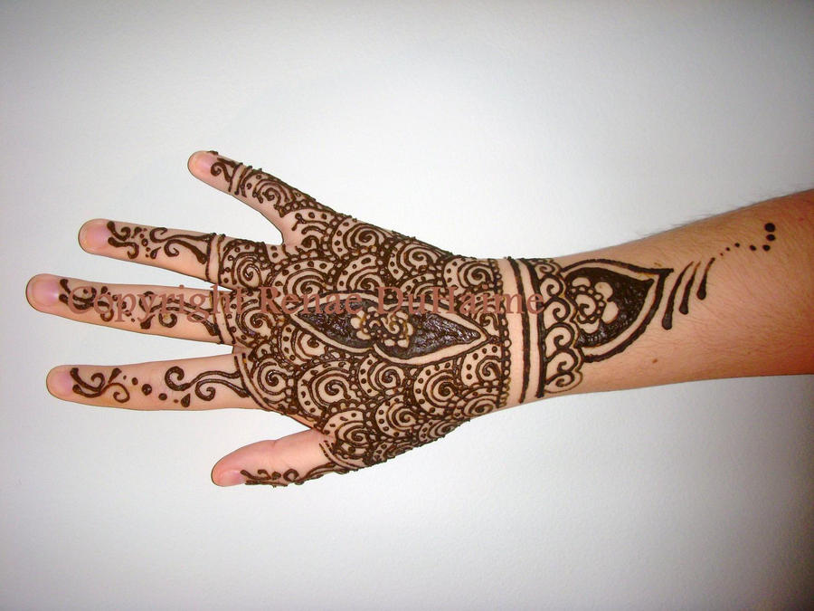 Henna Style Wrist Tattoo: Detailed Hand+Wrist Henna By RenDuH-henna On DeviantArt