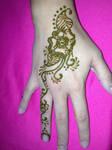 Swirling Flower Henna