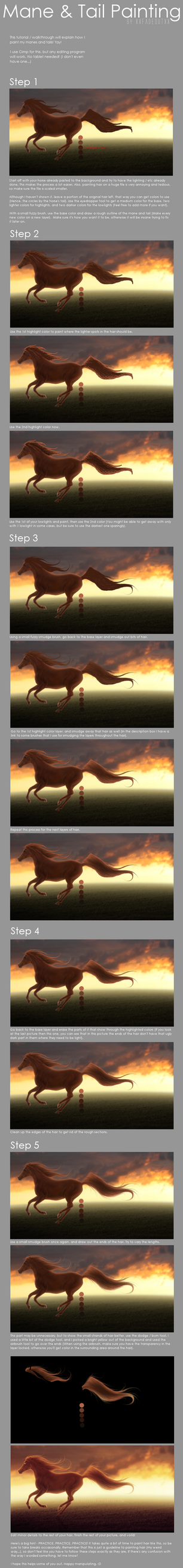 Mane and Tail Painting by xxFadeoutxx