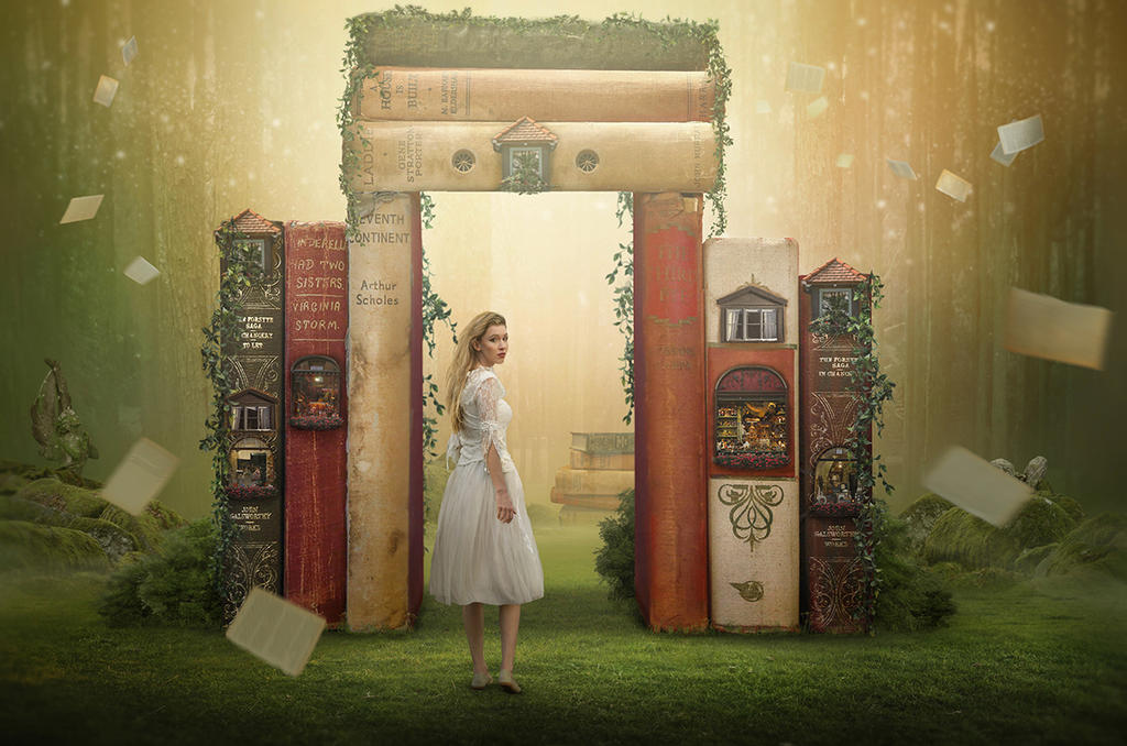 Magical Book Forest. by Desertroseimages