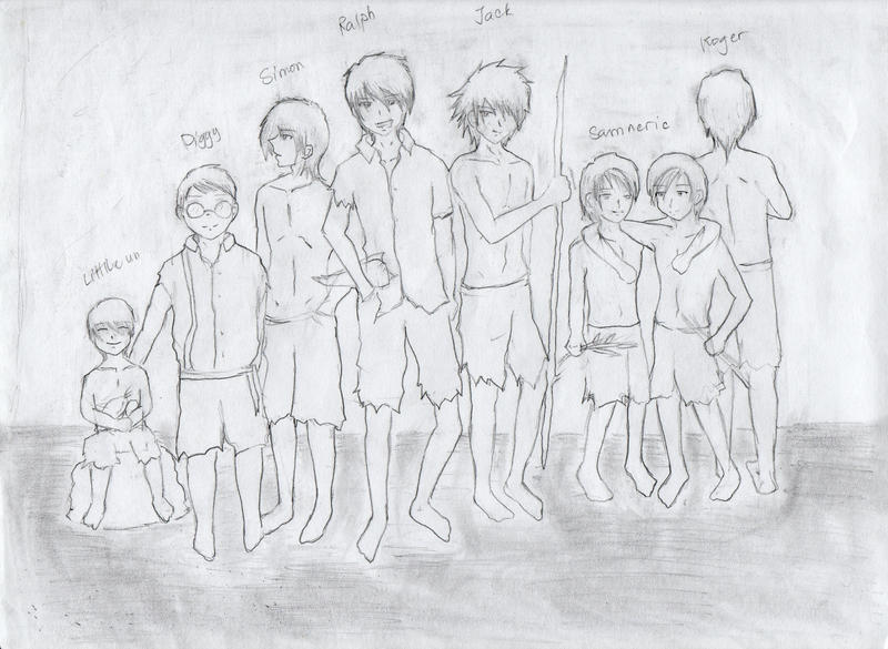 lord of the flies characters by r e b i r t h on  lord of the flies characters by r e b i r t h