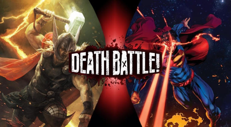 Thor V S  Superman DEATH BATTLE The Fight  by