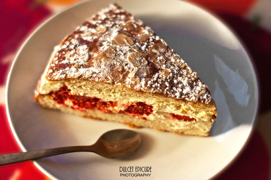 Raspberry Almond Cake by DulcetEpicure