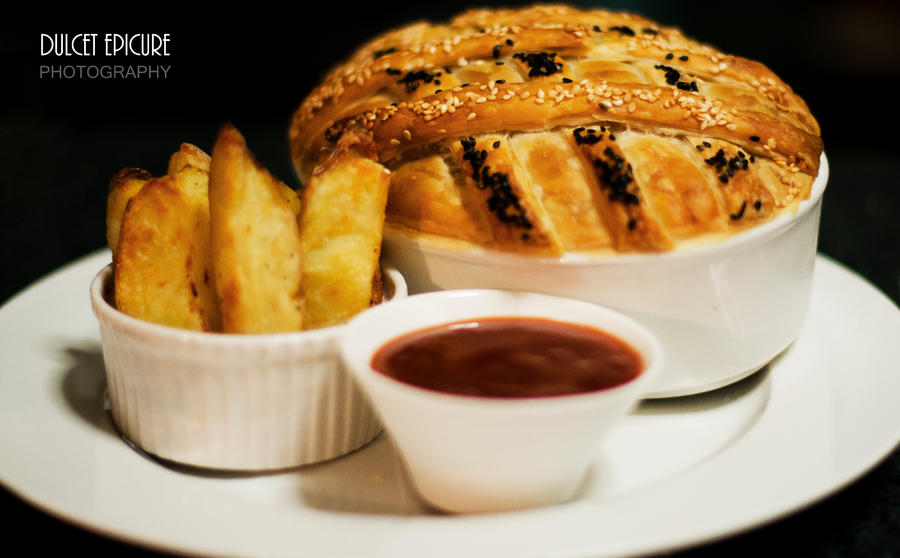 Beef Pie and Rosemary Wedges by DulcetEpicure