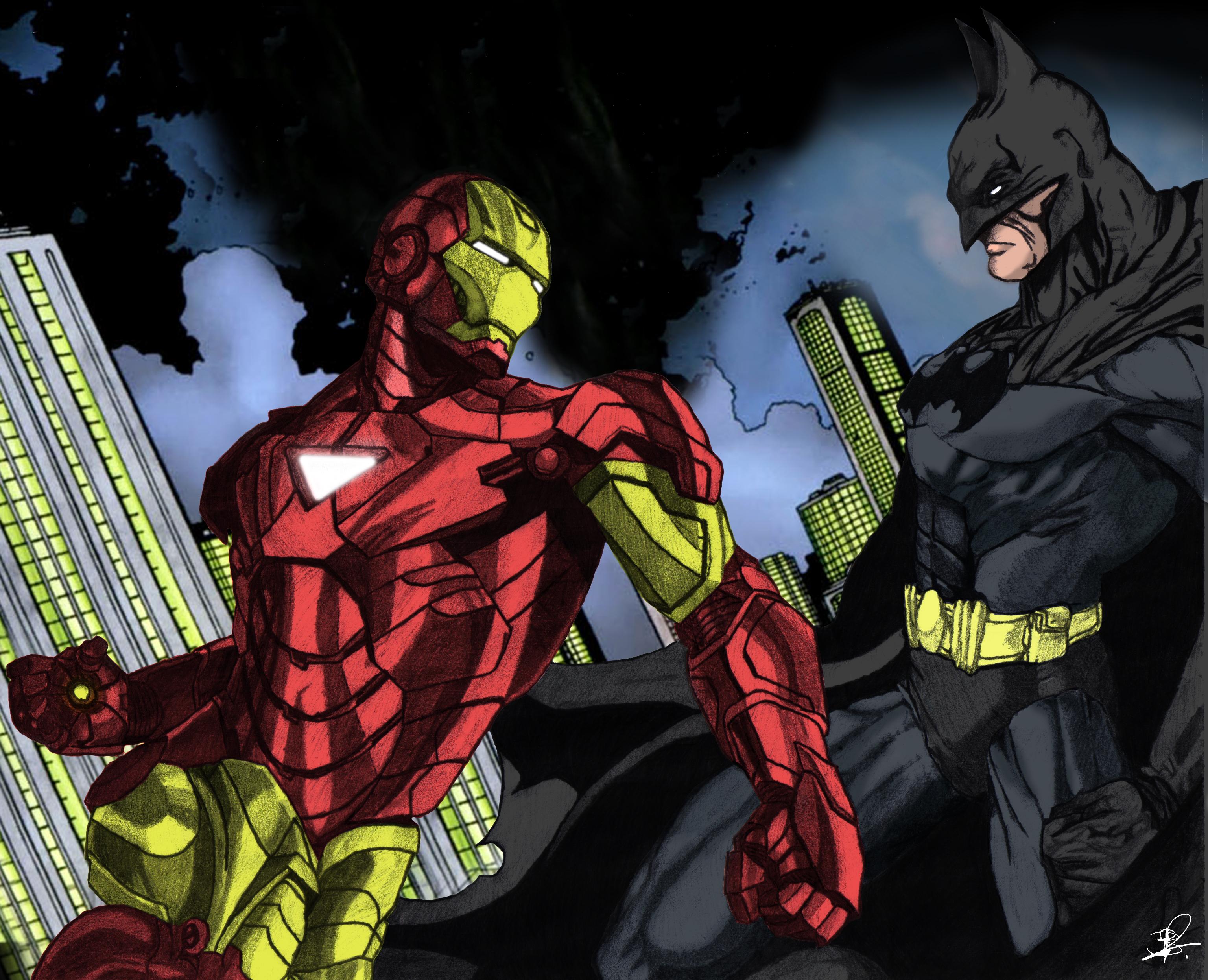 ironman vs batman by kelvin0gs08 on deviantart