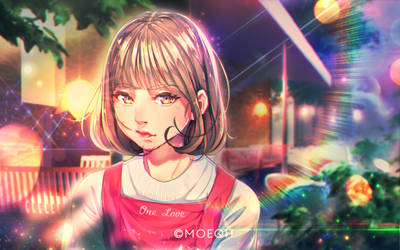 Florist with short hair. by moeqit