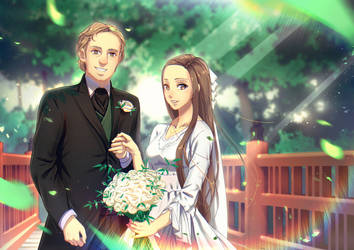 Commission: Wedding Photo by moeqit