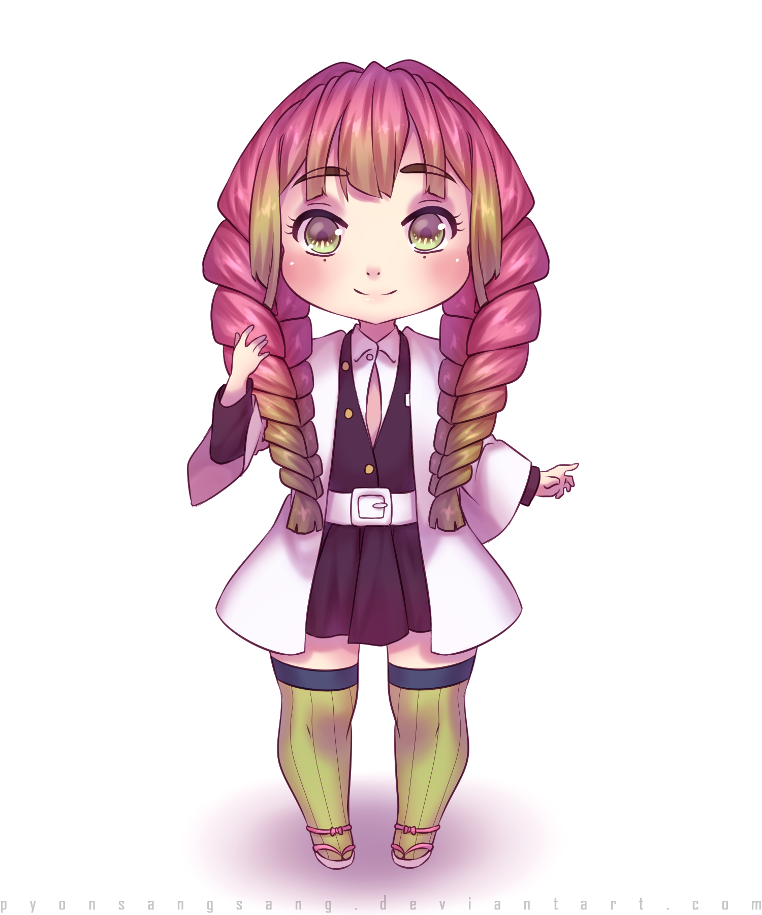 Mitsuri Kanroji Fanart By Pyonsangsang On Deviantart I was expecting to have a nice and cute result but apparently it didn't work. mitsuri kanroji fanart by pyonsangsang
