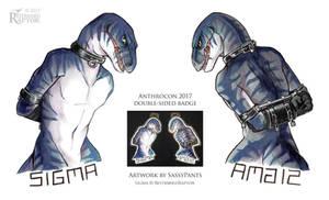 Anthrocon 2017 Con Badge by SassyPants
