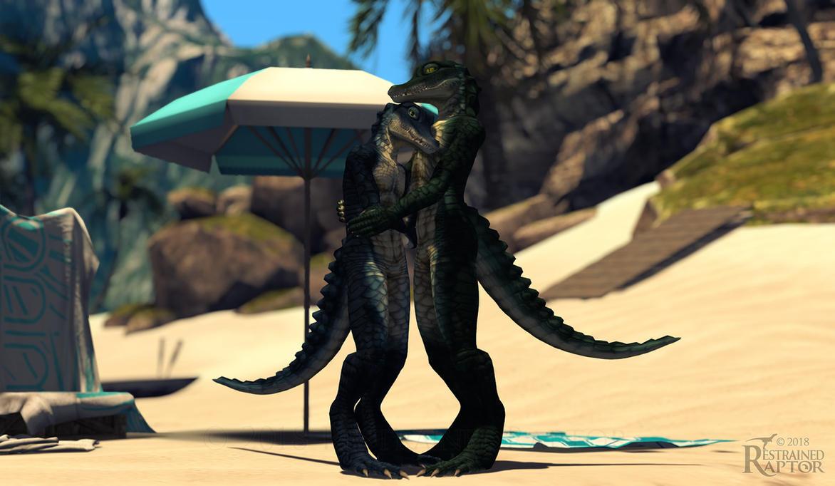 Crocodilian Hug by RestrainedRaptor