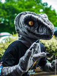 Raptor Fursuit - Rawry McRawrFace! by RestrainedRaptor