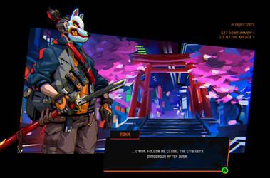 Dialogue screen mockup by Neexz