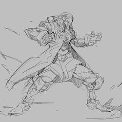Storm Rising Omnic sketch by Neexz