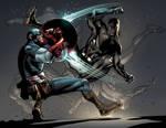 Captain AMerica.Black Panther.