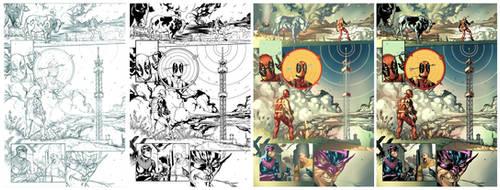 Deadpool 11. Page 04. Steps.