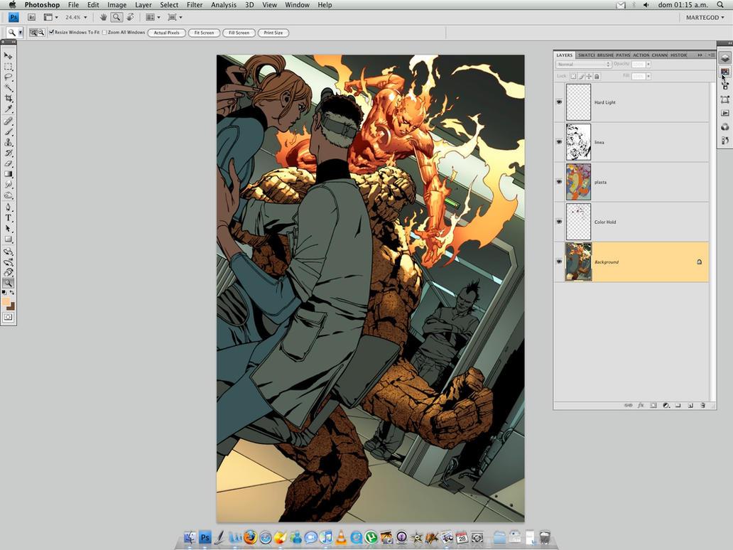 WIP. Fantastic Four + Daken by MarteGracia