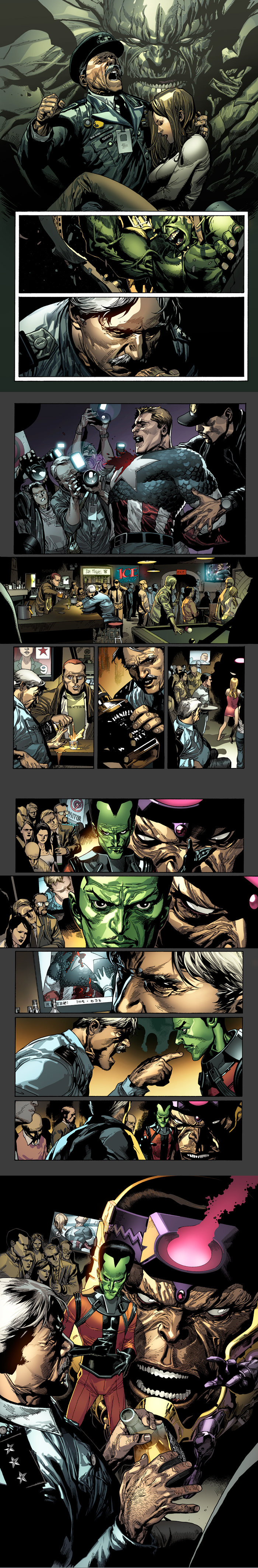 Pages of Hulk 23 by Leinil Yu