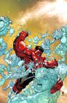 RED HULK vs ICEMAN