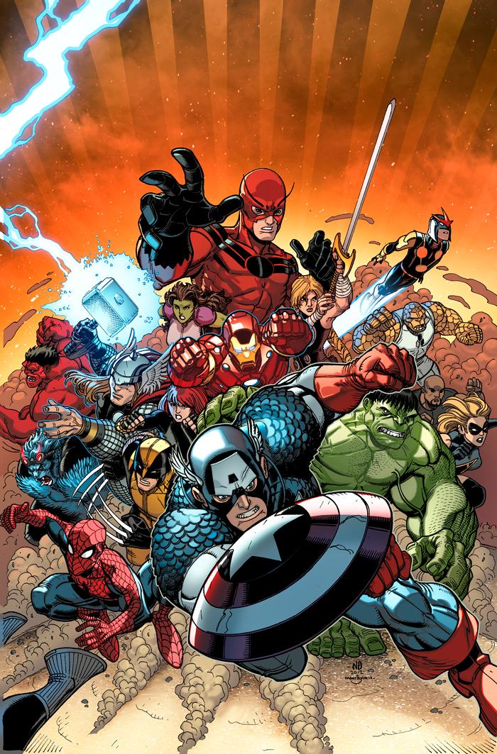 Avengers VS XMEN 10 variant by MarteGracia