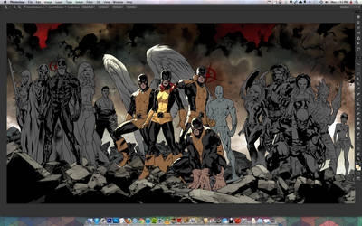 All New XMEN 01 and 02 COVER WIP!