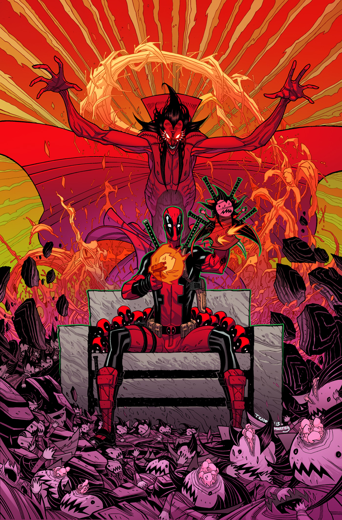 Deadpool + Mephisto by MarteGracia