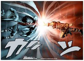 Naruto vs Sasuke by MarteGracia