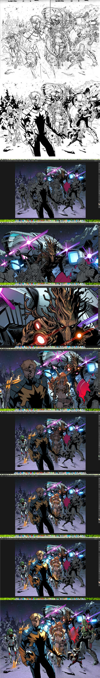 Guardians PROCESS! by MarteGracia