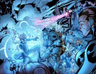 Blue mayhem and spandex by MarteGracia