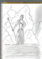 sea goddess by redwolfgirl