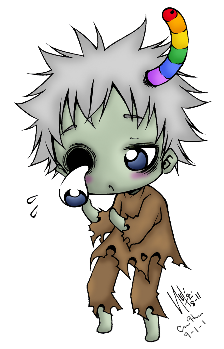 cute anime zombie boy adanih