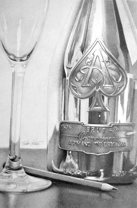 Goldbottle - 7x10.5 inches pencil on bristol by Ajda0123
