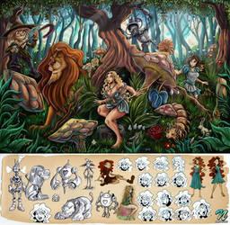 Alice in the land of OZ by EdgarSandoval
