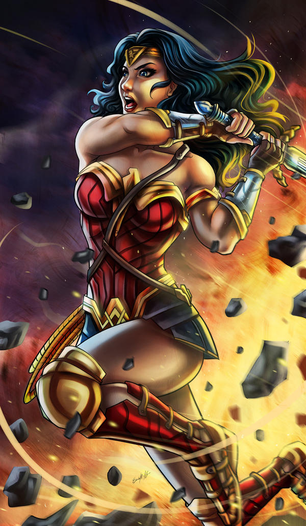 Wonder Woman Dawn Of Justice by EdgarSandoval