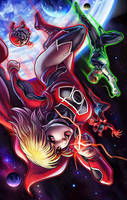 Supergirl Red Lantern by EdgarSandoval