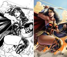 Wonder Woman Justice League by EdgarSandoval