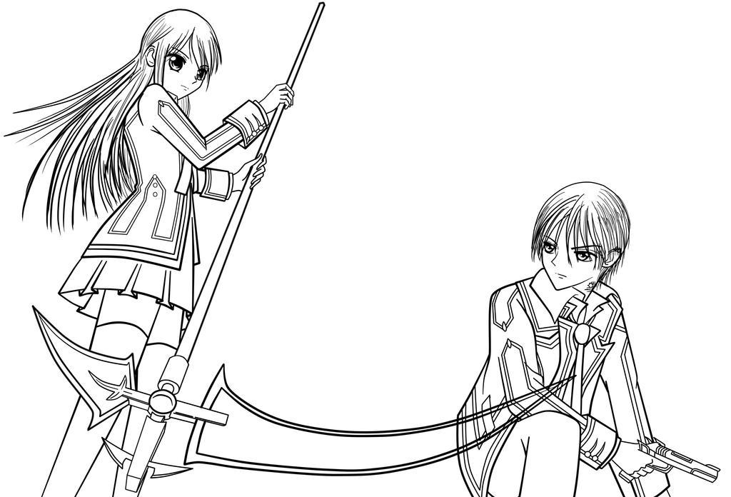 Zero Outline Yuuki vs Zero by tcwoua