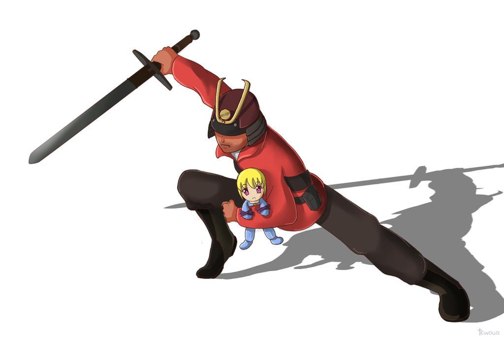 the Noh Mercy oni mask for the spy in TF2 | yokai ...  |Tf2 Samurai Hat
