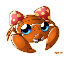+ Paras - 046 + by PokeChibiArtist98