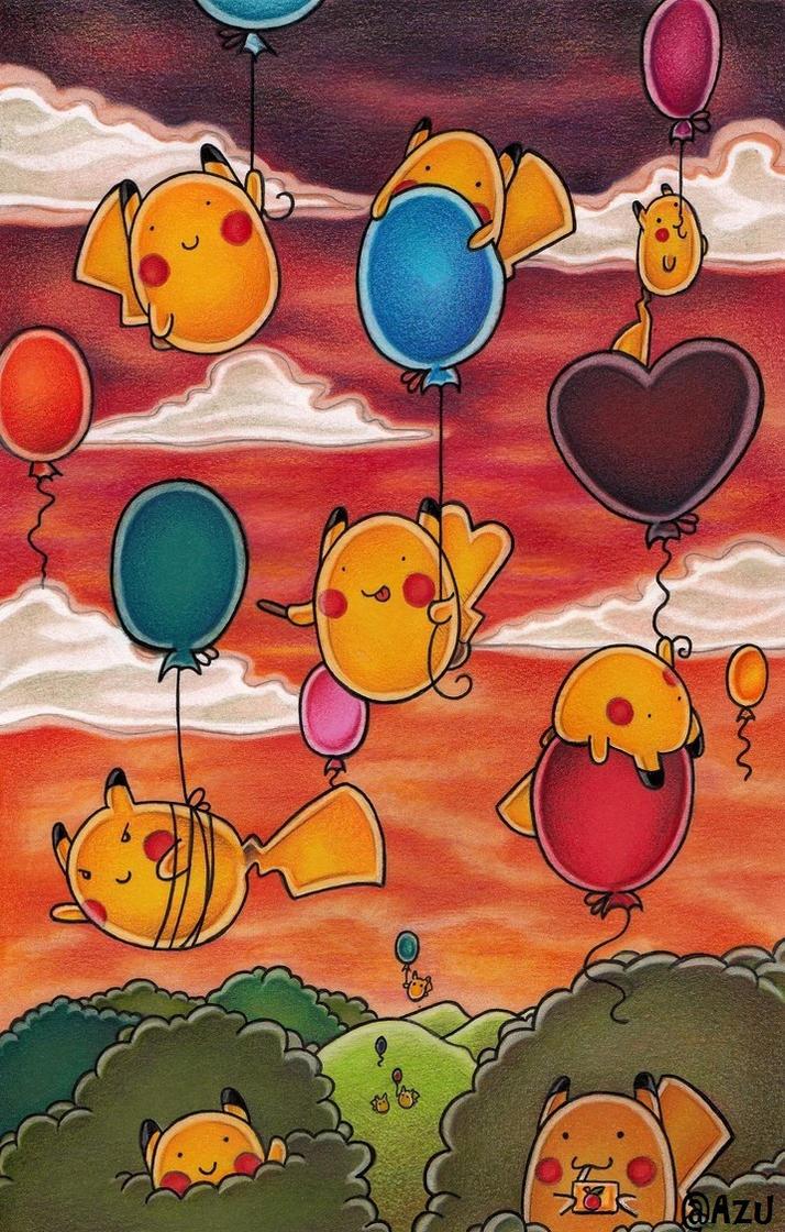 Luftballonkulisse by Azu-graph