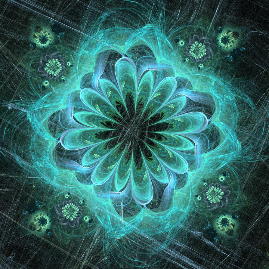 30 Textures & C4D insolites 06 Turquoise_flower_and_lichen_by_rjohnstone-d6d2kcz