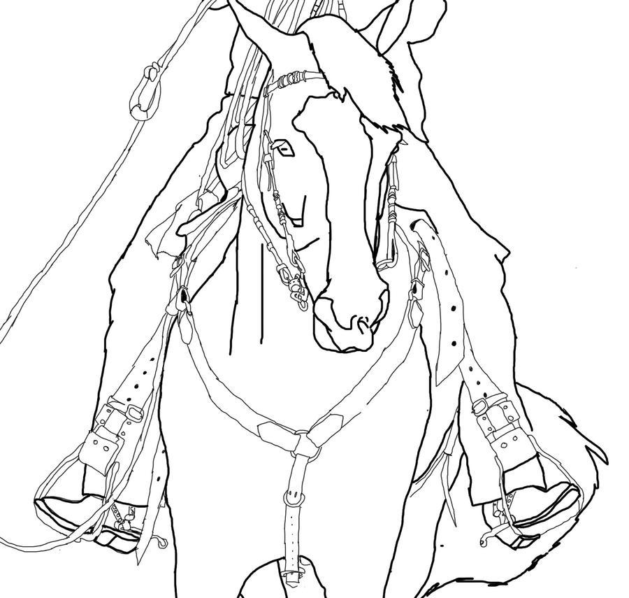 Western Horse Lineart By Sandiegirl12 On Deviantart