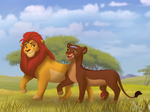 King Kion and Queen Rani Taking a Stroll