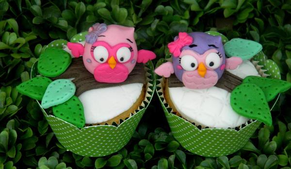 Cupcakes - owls by anafuji